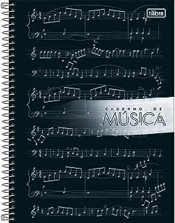 Caderno Espiral Universitário com 80 Folhas Capa Dura - Caderno de Musica - Tilibra