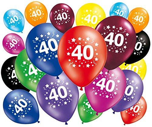 FABSUD Lot de 20 Ballons Anniversaire 40 Ans