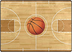 """Large Area Rugs 6'8"""" x 4'10"""", Basketball Floor Mat Contemporary Lightweight Stain Resistant Lightweight Stain ResistantLiving & Bedroom Soft Carpet"""