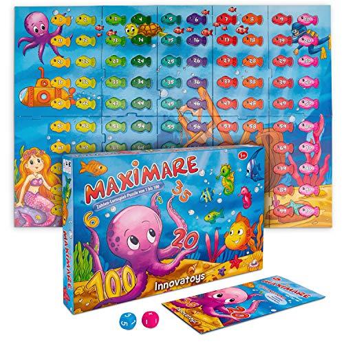 MAXIMARE Zahlen-Lernspiel-Puzzle von 1 bis 100