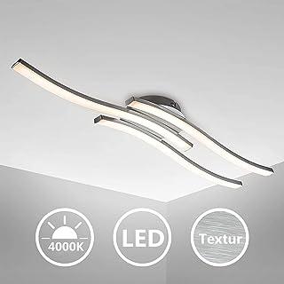 Plafonnier LED Design Moderne, Luminaire Plafonnier avec 3 Platines LED 6W intégrés, Blanc Neutre 4000K, 3x 500 LM, Lustre...
