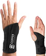 Copper Compression Wrist Brace - Guaranteed Highest Copper Content Support for Wrists, Carpal Tunnel, Arthritis, Tendonitis. Night Day Wrist Splint for Men Women Fit Right Left Hand (Left Hand L-XL)