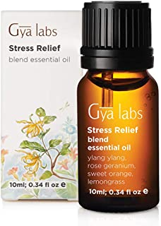 Stress Relief Essential Oil - Notes of Rose Geranium & Ylang Ylang echoing suburban peacefulness for Calming Relaxation (10ml) - 100% Pure Therapeutic Grade