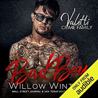 Bad Boy     A Bad Boy Mafia Romance              Written by:                                                                                                                                 Willow Winters                               Narrated by:                                                                                                                                 Lance Greenfield,                                                                                        Samantha Prescott                      Length: 7 hrs and 16 mins     1 rating     Overall 5.0