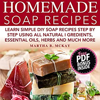Homemade Soap Recipes audiobook cover art