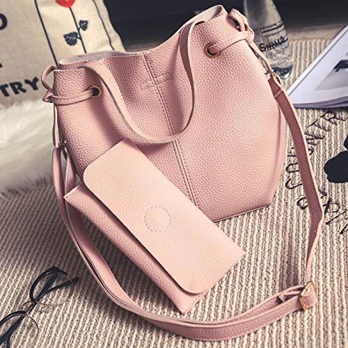 YUIOP Rucksack Zweiteilige Lychee Pattern Damen Umhängetasche Brieftasche Tragbare Umhängetasche