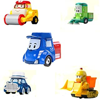 [Limited Edition ] Robocar Poli Diecasting Set : Posty, Max, Cleany, Musty, Bruner (Non-transformer)