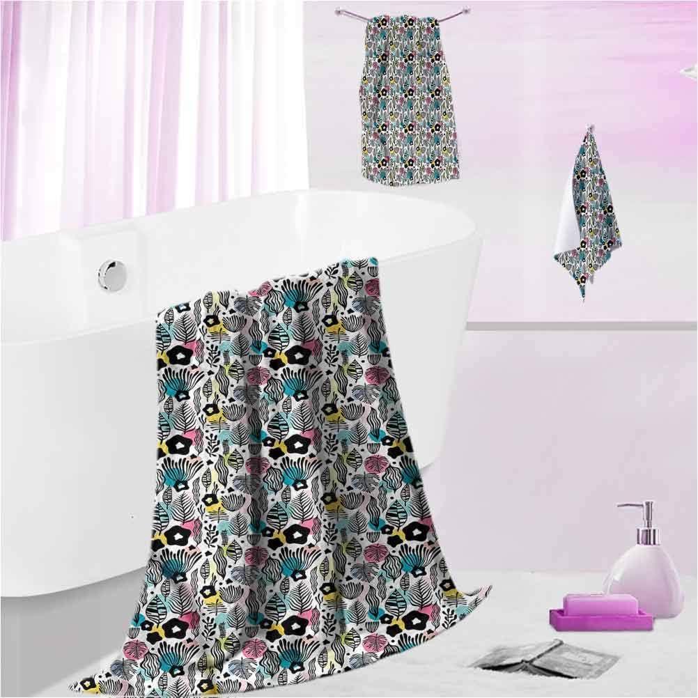 DayDayFun Bath Towel Set Floral Bota outlet Piece Max 43% OFF 3 Soft Thick