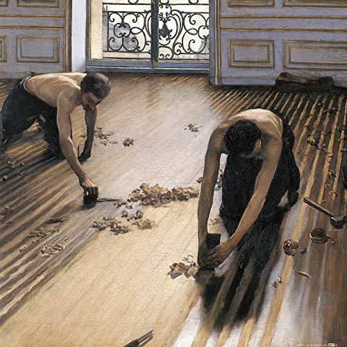 1art1 Gustave Caillebotte - Die Parkettschleifer, 1875 Poster Kunstdruck 40 x 40 cm