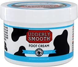 Udderly Smooth Foot Cream with Shea Butter, 8 oz Jar, Lightly Scented