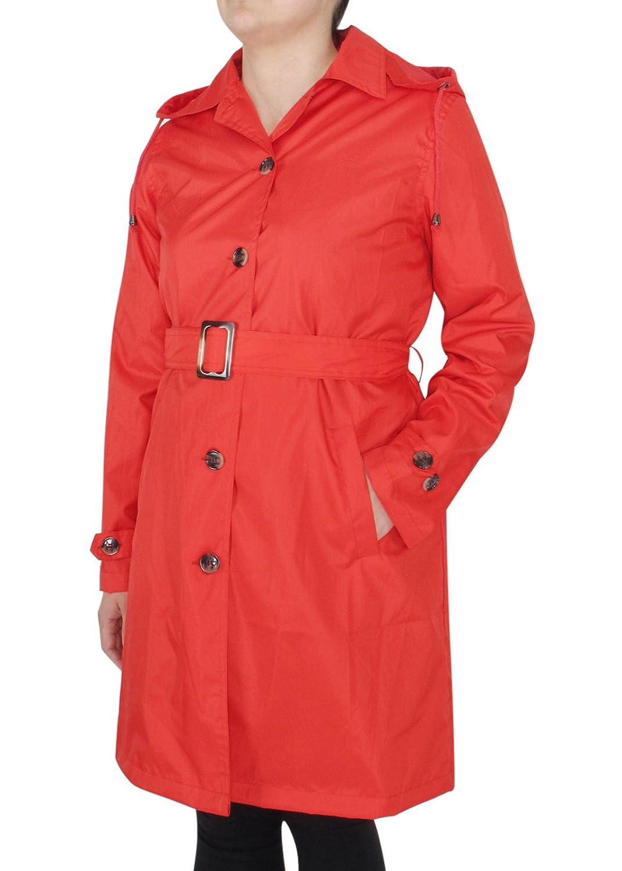 Capelli New York LadiesソリッドTrench Rain Coat withベルト