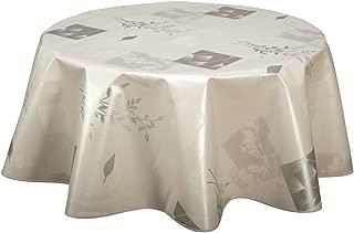 PVC Nettoyage Nappe Vinyle Toile Cirée Table Housse damassée Or /& Blanc