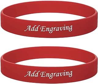 1-12PCS Set Free Custom Engraving Silicone Rubber Soft Comfortable Bracelet Band for Child Adult,Multi Color Size Option