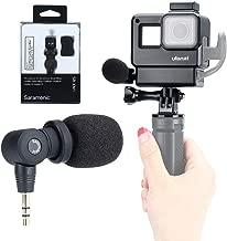 Vlog Setup for GoPro- Saramonic SR-XM1 3.5mm Wireless Video Recording Microphone + ULANZI Protective Housing Case Frame for GoPro Hero 7 6 5 Action Cameras