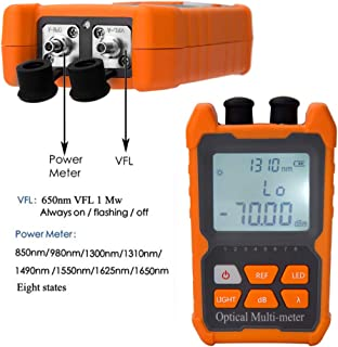 D YEDEMC Fiber Optic Cable Tester Visual Fault Locator Portable Optical Power Meter Sc and Fc Connector Fiber Tester (OPM&VFL)