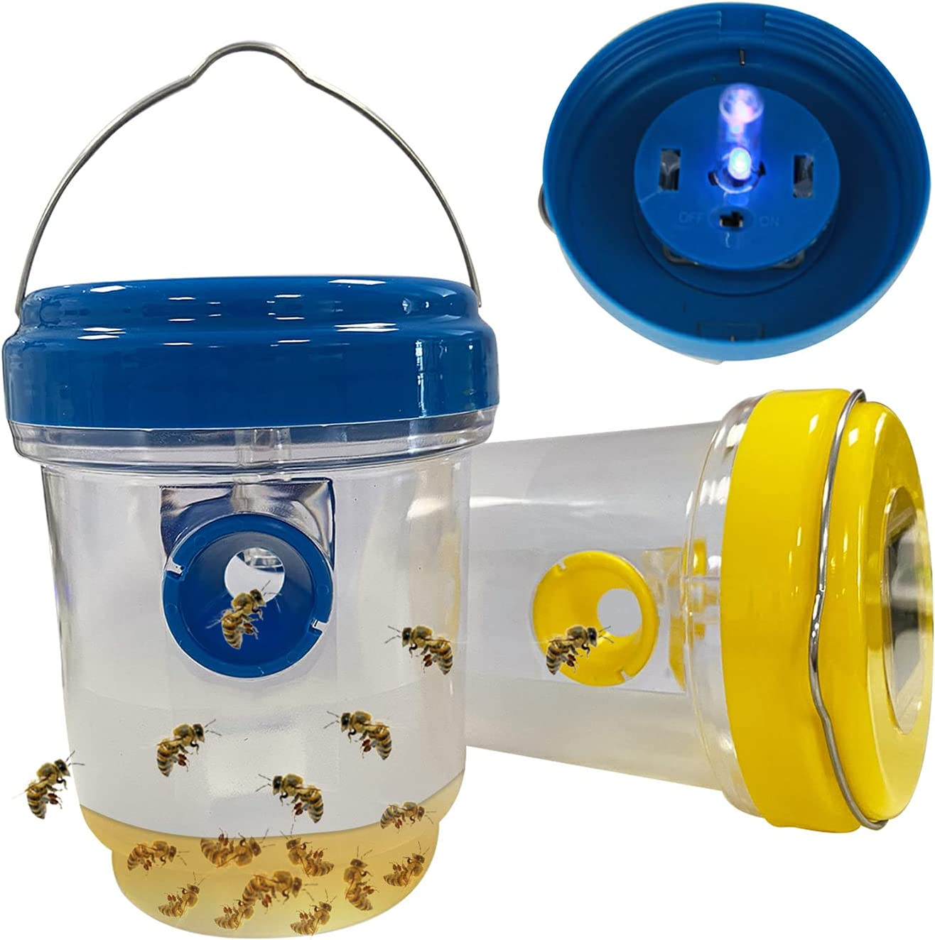 COLMO 2Pcs Wasp Traps Outdoor Hanging Carpenter Bee Sales for sale P Some reservation Solar Trap
