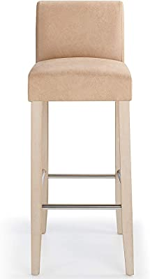 Outstanding Costantino Tuscany Breakfast Bar Stool Cream Oak Amazon Pabps2019 Chair Design Images Pabps2019Com