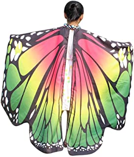 FKSESG Butterfly Wings for Women, Christmas Butterfly Shawl Fairy Ladies Cape Nymph Pixie Costume Accessory