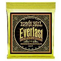 【正規品】 ERNIE BALL 2558 アコースティックギター弦 (11-52) EVERLAST COATED 80/20 BRONZE LIGHT