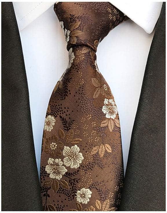 JJZXC Fashion Silk Men's Floral Tie Jucquard Necktie Suit Men Business Wedding Party Formal Neck Ties Gifts Cravat (Color : B)