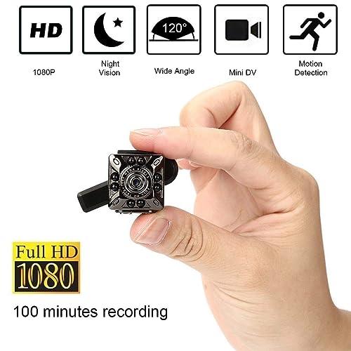 SQ10 1080 P Mini Caméra 12.0MP IR Vision Nocturne Caméscope Mini DV Caméra Petite Caméra de Maison Sécurité à Domicile Caméra de Surveillance Full HD Mini Caméra Vidéo pour Systèmes de Séc