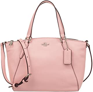 Coach Pebble Leather Mini Kelsey Satchel Crossbody Handbag, Blush 2