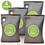 Coconut Charcoal Air Purifying Bag (7oz x 4Pack), 3 Times Absorption Efficiency, Natural
