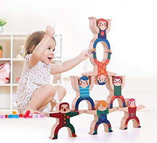 CLII Children Piles of Music Blocks, Hercules Stacked Tall Pyramid Balancing Puzzle Board Game Toy Wooden Blocks Stacked Blocks Game Game Balance