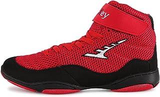 WJFGGXHK Boxing Shoe Rubber Sole Wrestling Shoes Lightweight Anti-Slip Climbing Shoe for Adult Kids
