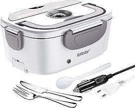 ERAY Boîte Chauffante Repas, 2 en 1 Lunch Box Chauffante Electrique 220V 12V/24V 1.5L en Acier Inoxydable Amovible, Convie...
