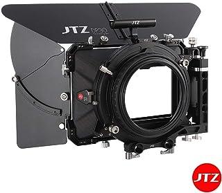 JTZ DP30 Cine Carbon Fiber 4x5.65 Swing Away Matte Box Mattebox with 15mm/19mm Rod Slider for Sony FS5 FS7 ARRI RED Canon C100 C200 C300 BMD Blackmagic BMPCC BMCC Cinema Panasonic GH4 GH5 Camera