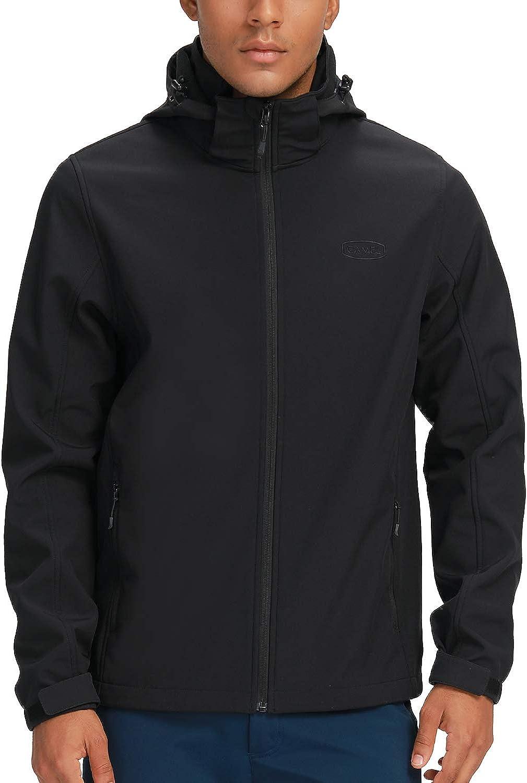 Some reservation CAMEL Men's Softshell Fleece Jacket Hooded Soft Shell Excellent Detachable
