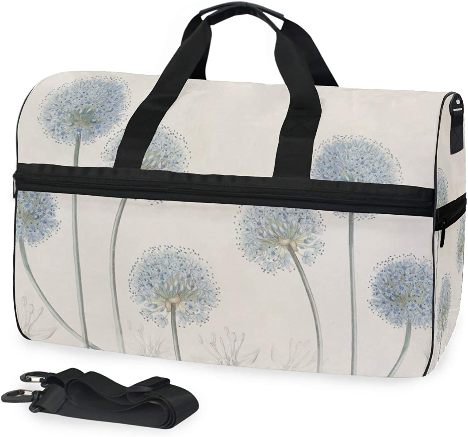fdb72a08e570 DEZIRO 45L Travel Duffel Bag Cartoon Dandelion Large Weekender Bag ...
