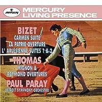 Bizet: Carmen Suite/La Patrie Overture/L'arl茅sienne Suite Thomas: Mignon & Raymond Overtures by Paul Paray [Conductor] Detroit Symphony Orchestra [Orchestra]