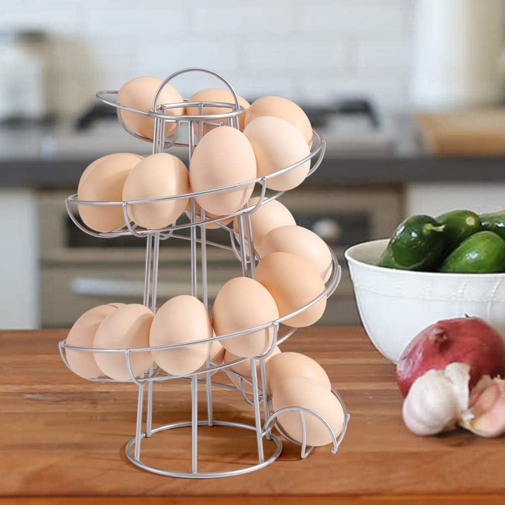eamqrkt Support /à /œufs Moderne en Spirale pour /économiser de lespace pour la Cuisine