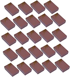 FITYLE 24pcs Earring Pendant Necklace Jewelry Gift Retail Boxes Bulk Sale 5x8x2.5cm - Coffee