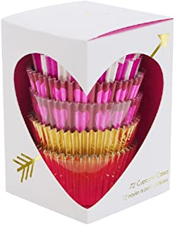 Meri Meri Hearts and Arrows 72 Cupcake Liners