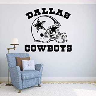 Aihesui Quote Dallas Cowboys Vinyl Wall Stickers Football Logo Sport Wall Decals Home Removable Decoration