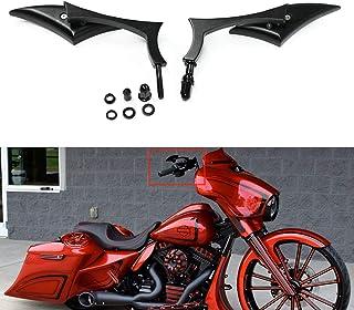 Motorcycle Black Blade Rear View Mirrors for Harley Cruiser Bobber Chopper Sportster 883 1200