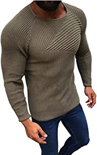 Stoota Men's Casual Crewneck Long Sleeve Knitting Sweaters, Autumn Classic Slim Fit Soft Warm Pullover Blouse S-3XL