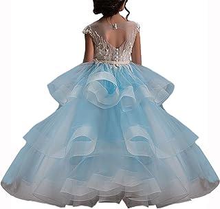 WDE فساتين حفلات للفتيات الصغيرات لحفلات الزفاف وحفلات المناولة الأولى وحفلات التخرج وحفلات التخرج