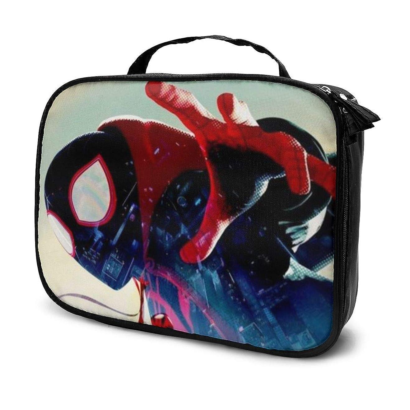 過剰手当コマースDaituクリエイティブスパイダーマン 化粧品袋の女性旅行バッグ収納大容量防水アクセサリー旅行