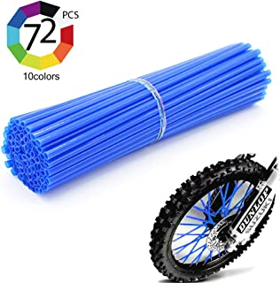 "Outmoment Colorful Motocross Spoke Skins, 72pcs 24cm Universal Motorcycle Dirt Bike Spoke Covers for 8""-21"" Rims KTM All 65-500cc SX SX-F EX EXC-F SIXDAY 950 990 1190 Adventure gas F800gs F1200gs"
