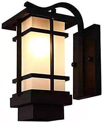 Moderna Simple Norte de Europa Lámpara Pared Pasillo Escalera Luz Jardín Luz LED Impermeable Aplique: Amazon.es: Iluminación