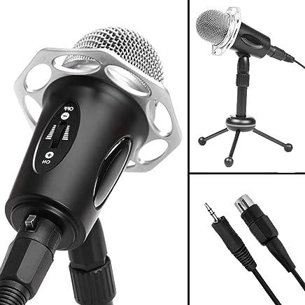 ZYG.GG Microfono Professionale per La Registrazione del Suono del Condensatore di Gioco con Supporto per Treppiede, Microfono con Condensatore Regolabile in Altezza - Trova i prezzi più bassi