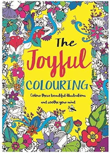 Bargain Gateway Adult Relaxing A4 Colour Therapy - The Joyful Colouring Book