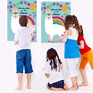 Pin The Tail on The Llama Party Game Llama Fiesta Baby Shower or Birthday Party Game Alpaca Gifts with 20 Tails