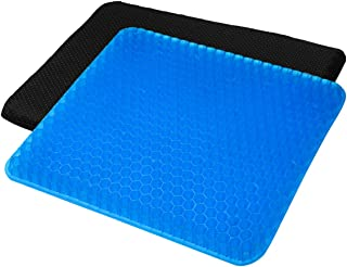 YSXHW Gel Seat Cushion Breathable with Non-Slip Cover for Pressure Relief, Double Layer Egg Gel Cushion for Pain Relief, Seat Cushion for The Car,Office,Wheelchair, Durable,Portable