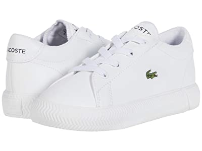 Lacoste Kids Gripshot 0120 2 CUI (Toddler/Little Kid) (White/White) Kid