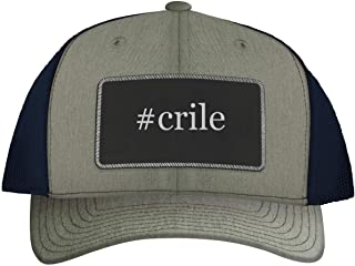 One Legging it Around #crile - Leather Hashtag Black Patch Engraved Trucker Hat